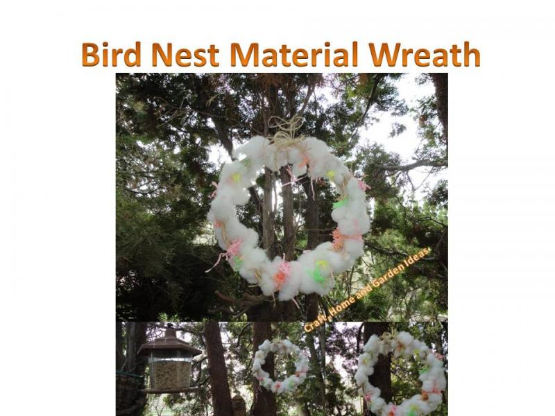 Bird Nest Material Wreath