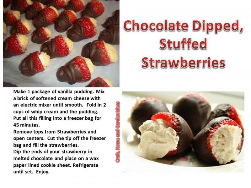 Chocolate Dipped Stuffed Strawberries