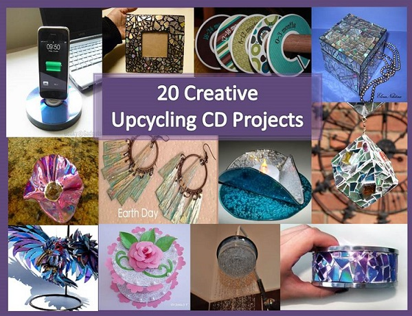 Craft home and garden ideas 20 creative upcycling cd for Upcycling 20 creative projects made from reclaimed materials