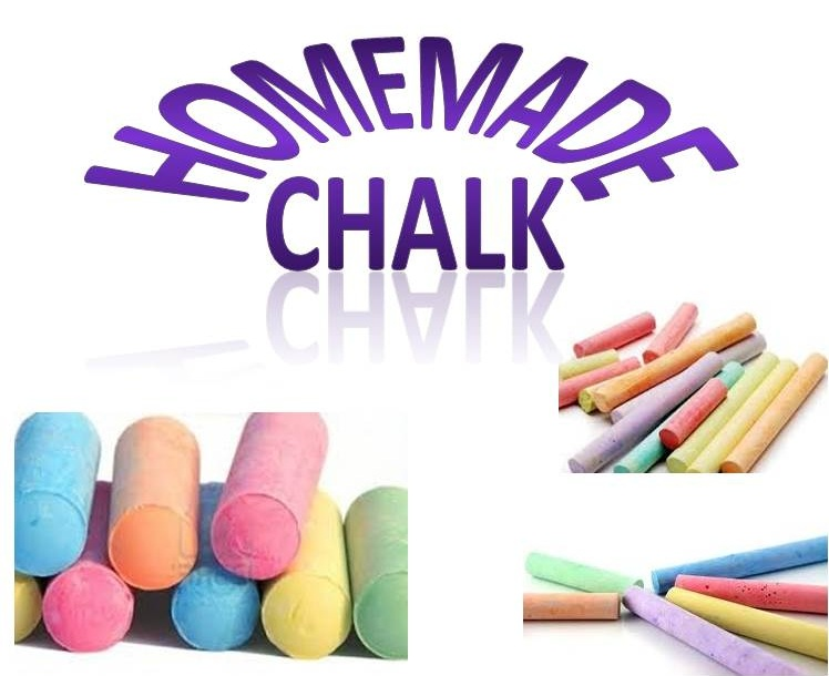 homemade chalk for the kids