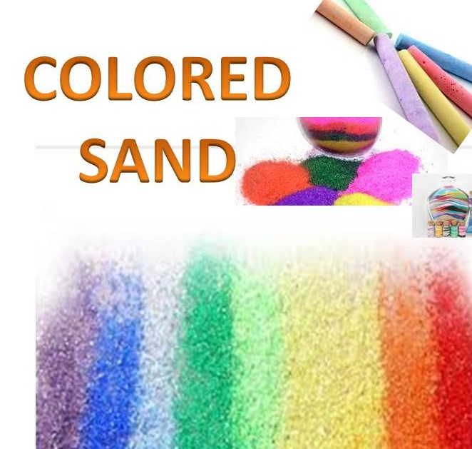 a pictre of colored sand
