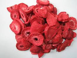 a picture of dried strawberries